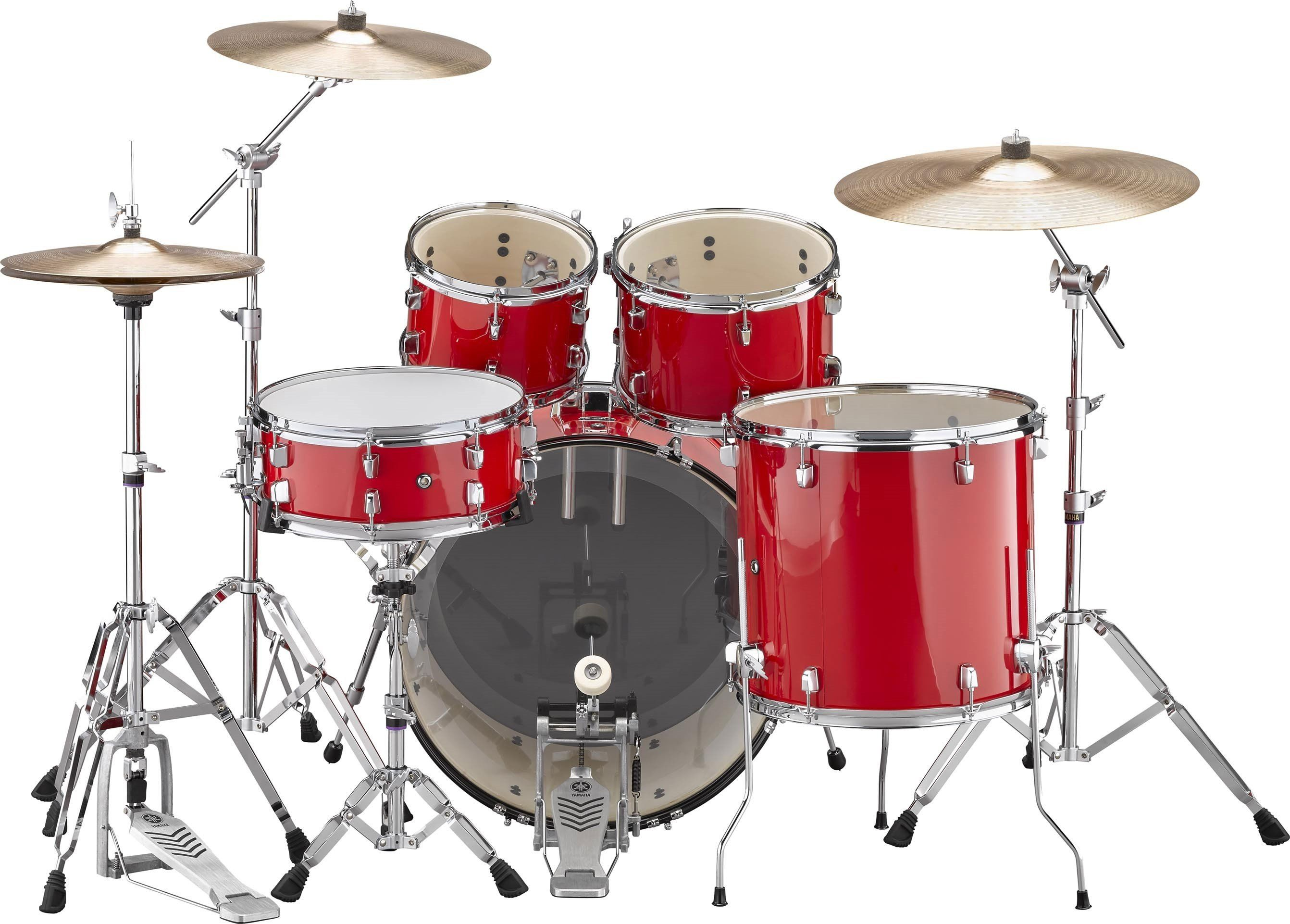 "Yamaha Rydeen 22"" Drum Kit in Hot Red Drum and bass"