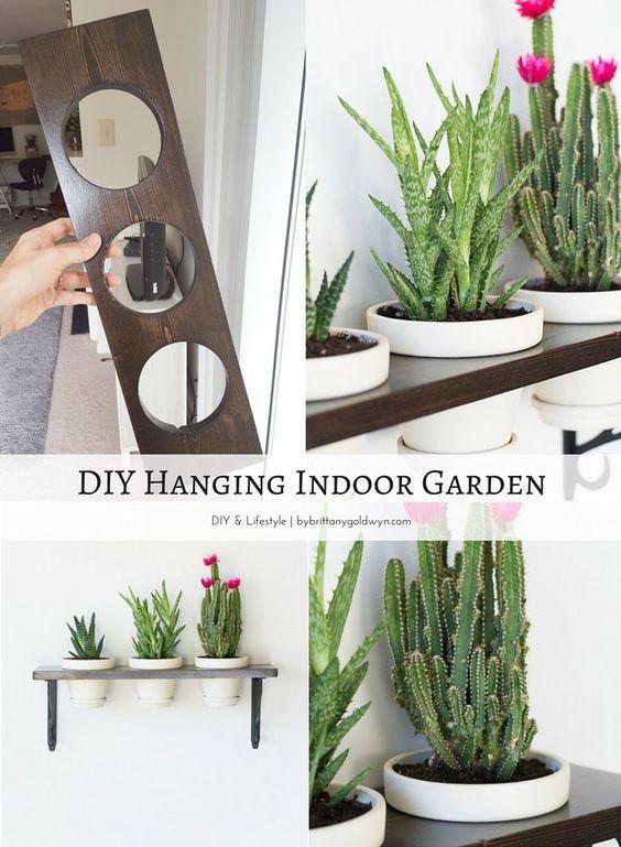 Make A Hanging Indoor Garden Decor Herbs Indoors
