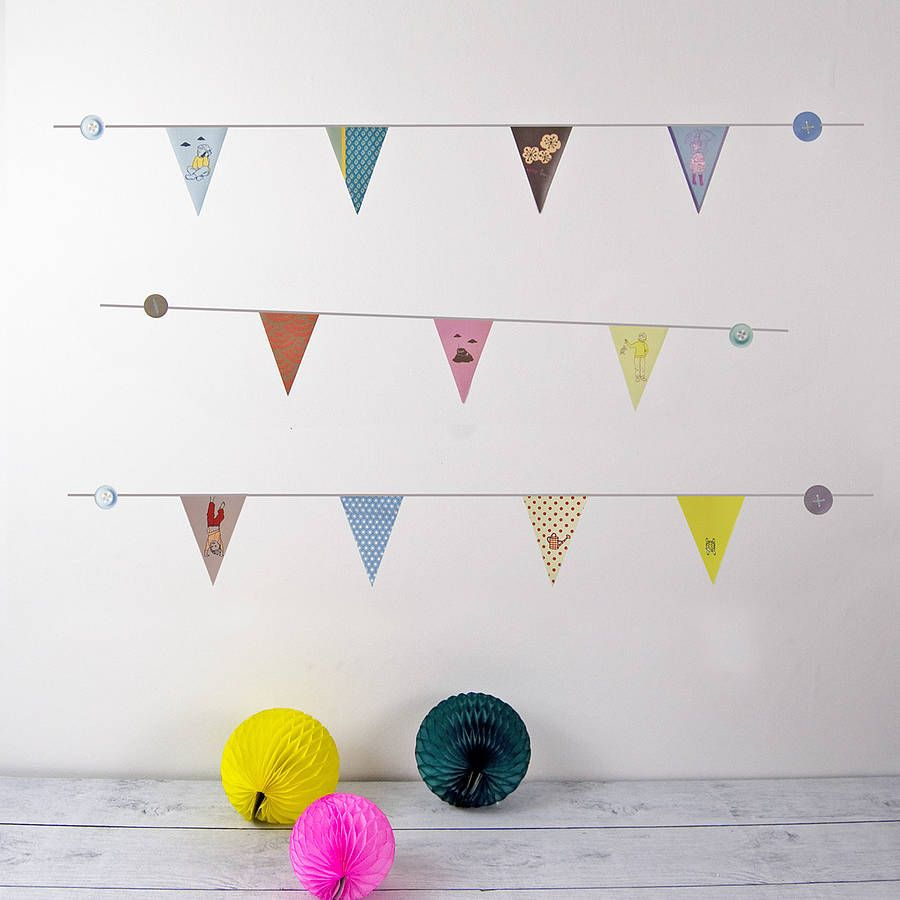 little flags wall stickers by koko kids | notonthehighstreet.com