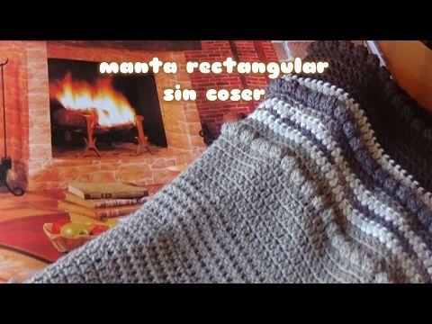 121) MANTA FACIL CROCHET TEJIDA DE LANA (Patrón gratis)//EASY ...