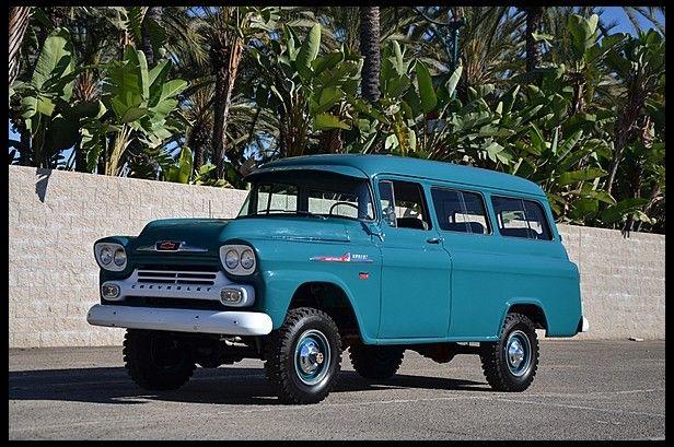 1958 Chevrolet Suburban Mecum Auctions Chevrolet Suburban Chevrolet Vintage Chevy Trucks
