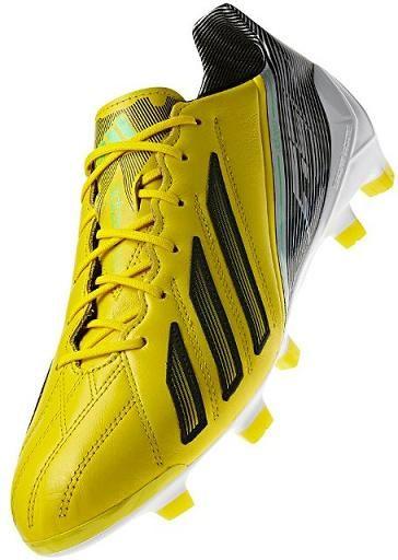 Nuove adidas f50 adizero in pelle con i colori giallo - nero, forze speciali