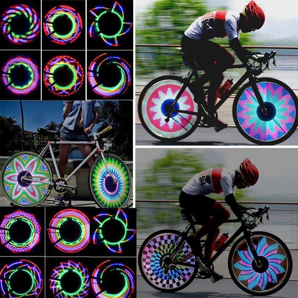 Cycling 32-pattern Bicycle Bike Accessories LED Spoke Wheel Lights Lamp