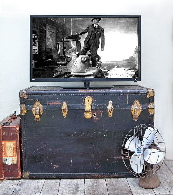 Extra Large Steamer Trunk Great For Table Storage Decorating
