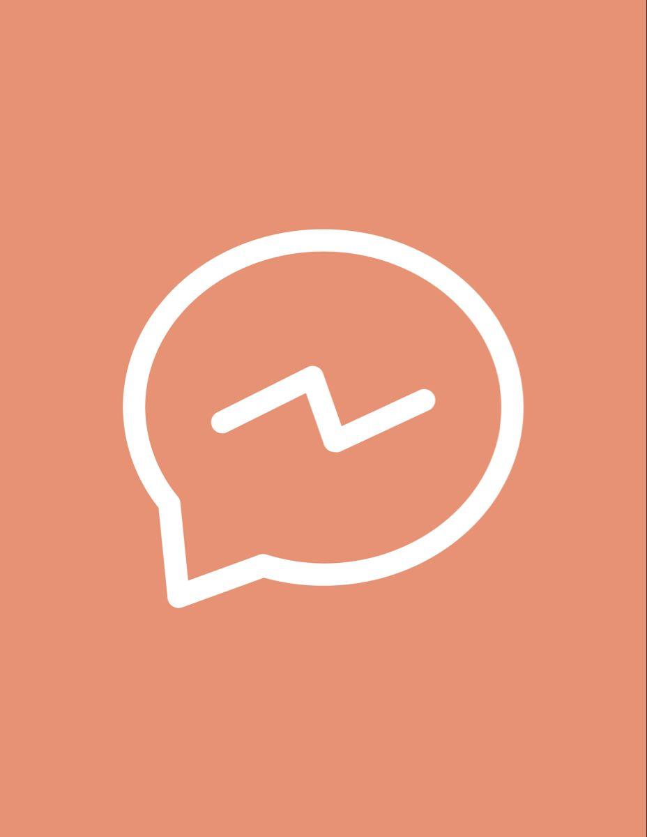 Ios 14 Aesthetic Facebook Messenger Icon Iphone Icon App Icon Design App Icon