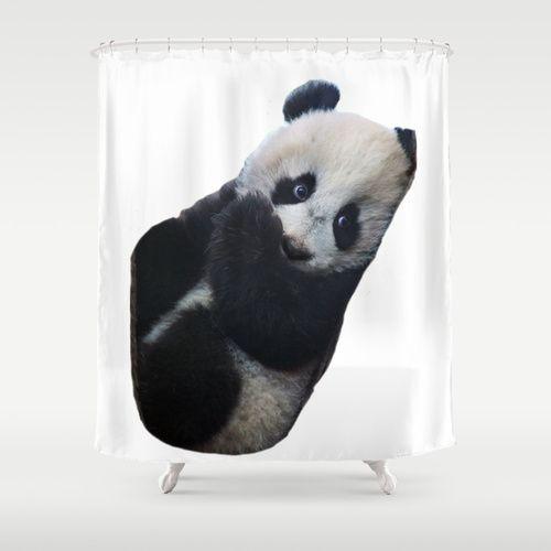 Panda Shower Curtain Panda Shower Curtain Curtains