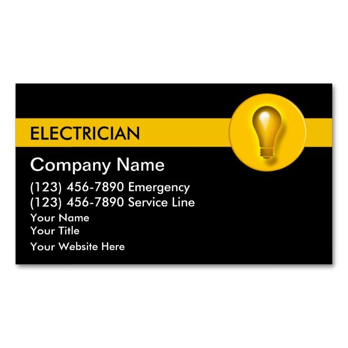 Electrician business cards business cards and business business electrician business cards make your own reheart Image collections