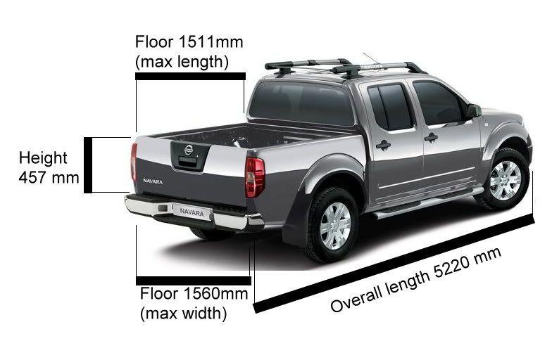 Nissan Navara Measurements >> Dimensions for D40 double and king cab - Nissan-Navara.net | Navara D40 | Pinterest | Nissan ...
