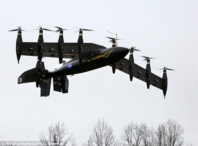 Go Greased Lightning! Nasa's ten-engined battery-powered drone takes off like a helicopter but flies like a plane   Dubbed Greased Lightning, or GL-10, the drone has eight engines on its wings and can switch between hovering and soaring in mid-air at the press of a button. [The Future of Drones: http://futuristicnews.com/tag/drone/ Drones for Sale: http://futuristicshop.com/tag/drone/]