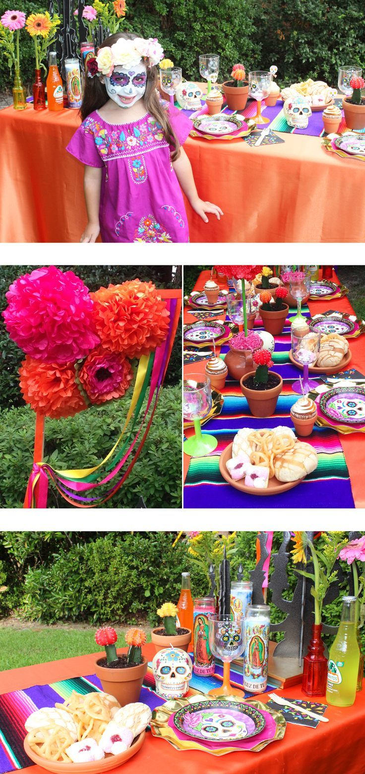 day of the dead halloween party ideas at the via blossom blog all the halloween