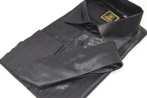 Mens White Shirt With Matching Trim Gold Silk Satin Tie S M L XL 2XL 3XL 4XL