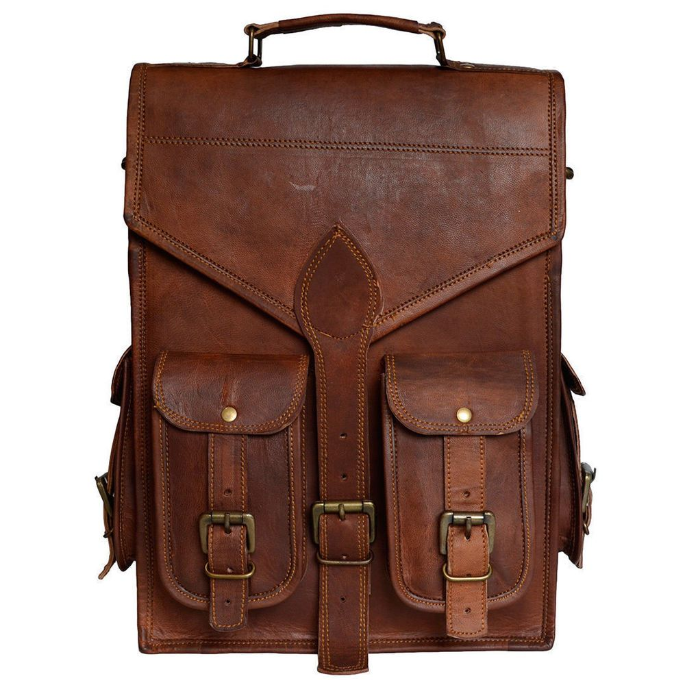 6d94fd27cf Men s Real Leather Backpack Laptop Bag Large Hiking Travel Camping Carry On  New  fashion  clothing  shoes  accessories  mensaccessories  bags (ebay  link)
