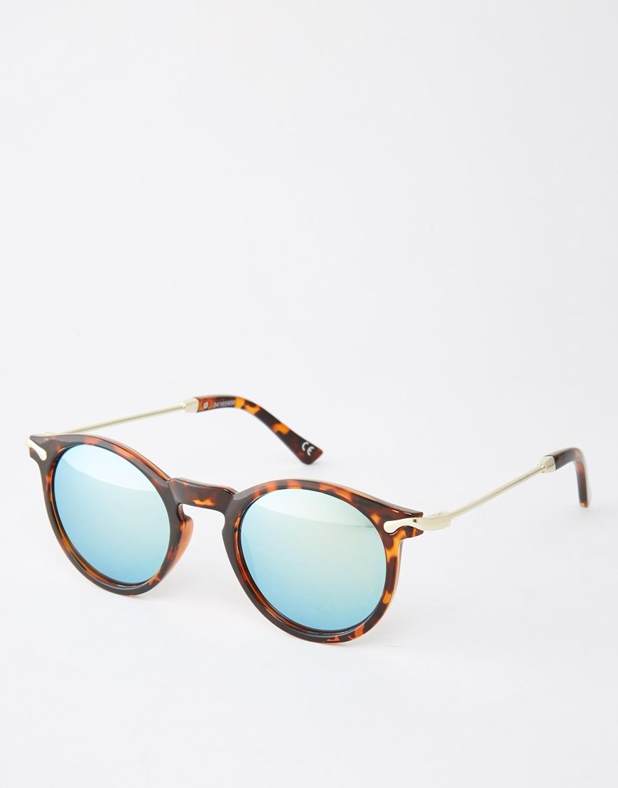 2d99830a2f29a ASOS+Round+Sunglasses+With+Metal+Arms+And+Flash+Lens