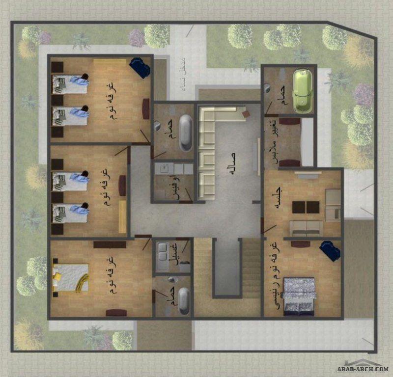 تصميم فيلا سكنية سعودية مكتب الريان م شروق حمدي Design Floor Plans Villa