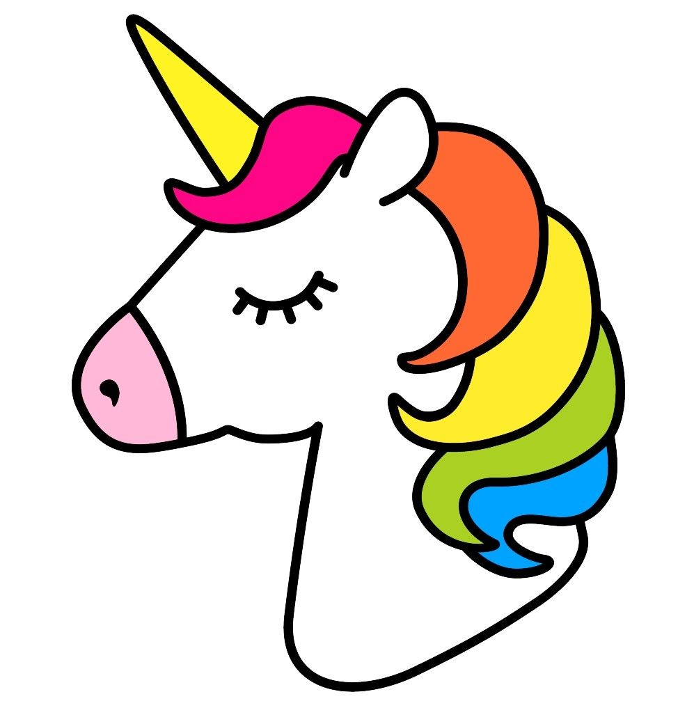 Cute simple unicorn, easy to draw///niedliches einfaches