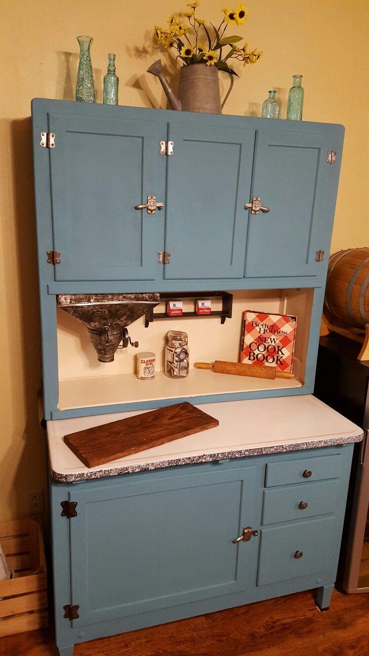 My Grandparent's Hoosier Kitchen Cabinet I had restored.