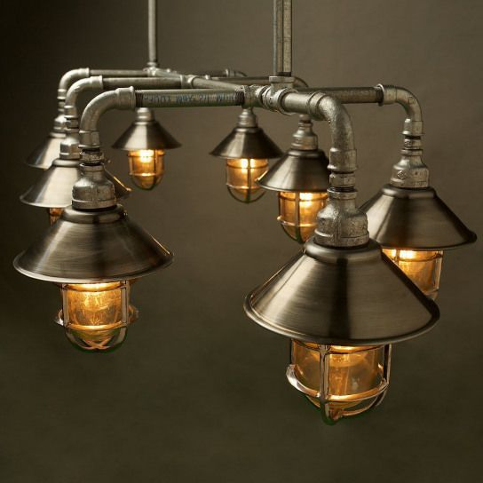 Photo of Outdoor Galvanised Plumbing Pipe Dining Table Light #plumbingpipefurniture #plum…