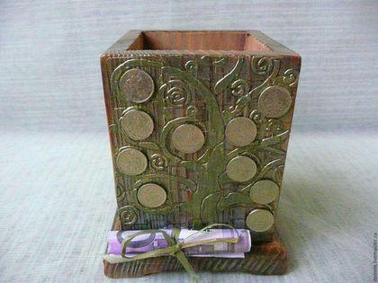 Карандашница, подставка под карандаши, подставка для карандашей, карандашница деревянная, карандашница Краснодар, купить в Краснодаре, денежное дерево