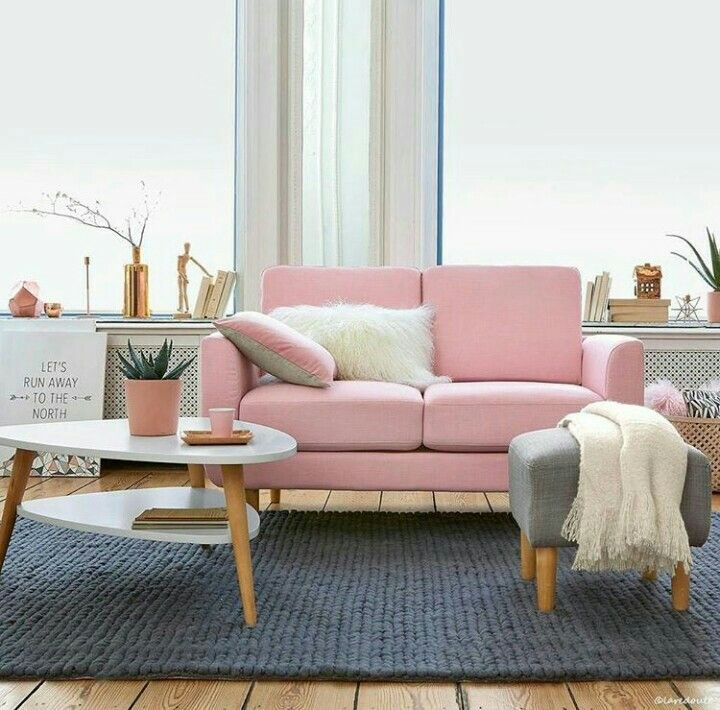Beautiful Pink Couches Living Room