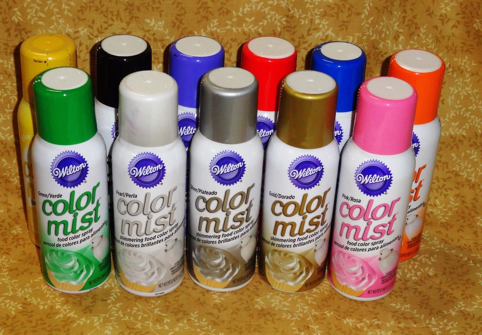 Color Mist,Food Color Spray,Wilton,Air Brushed Effects,1.5 Oz.Edible ...