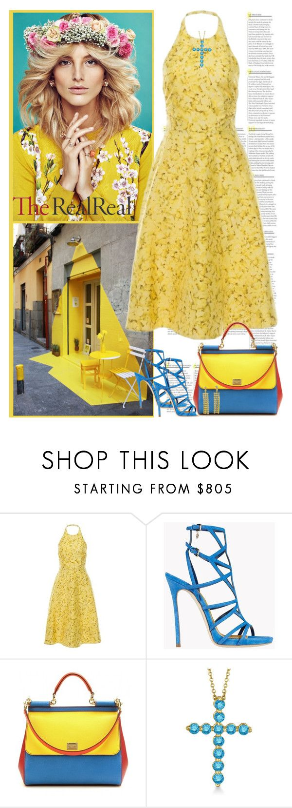 Summer Party Dressing With The RealReal: Contest Entry by radamorrison on Polyvore featuring Giambattista Valli, Dolce&Gabbana, CÉLINE, Allurez and Dsquared2
