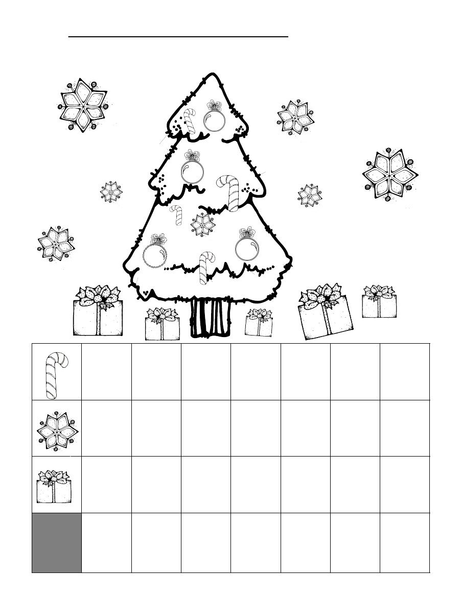 Christmas Graphing Worksheet   Kindergarten math worksheets [ 1169 x 904 Pixel ]