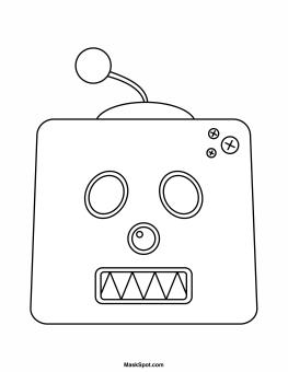 Robot Mask Template Robot Mask Robot Printable Coloring Masks
