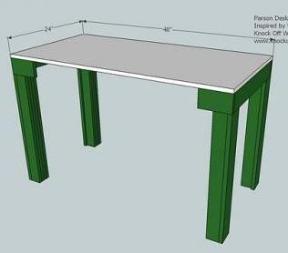 A Simple Modern Desk Modern Desk Diy Furniture Parsons Desk