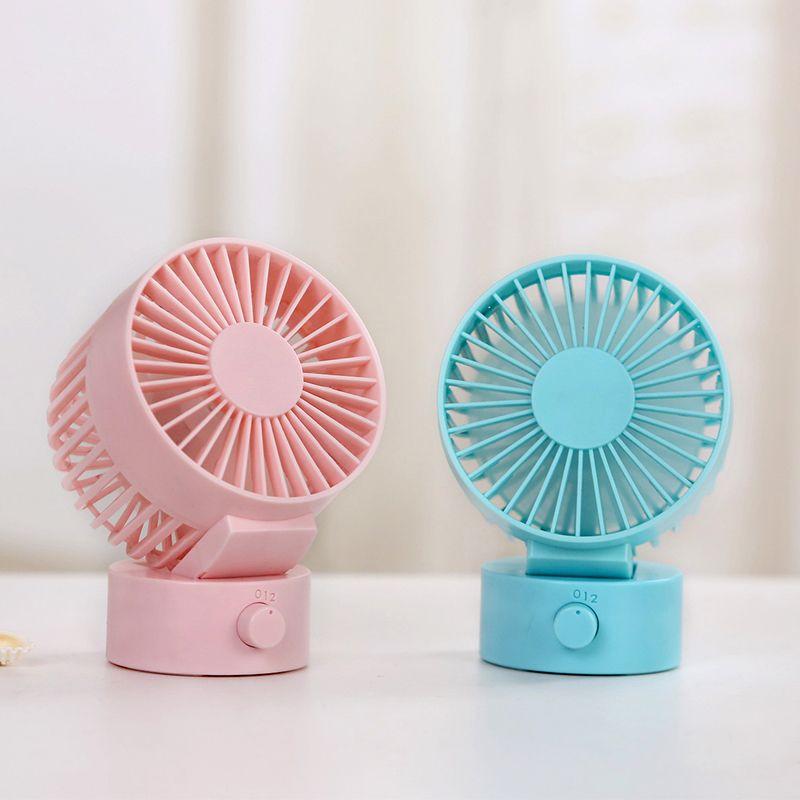 Blue Mini Fan 2 Speed Cooling Adjustable Dual Motors USB Desktop Fan for Office Home Baby Sleep Summer Portable Fans