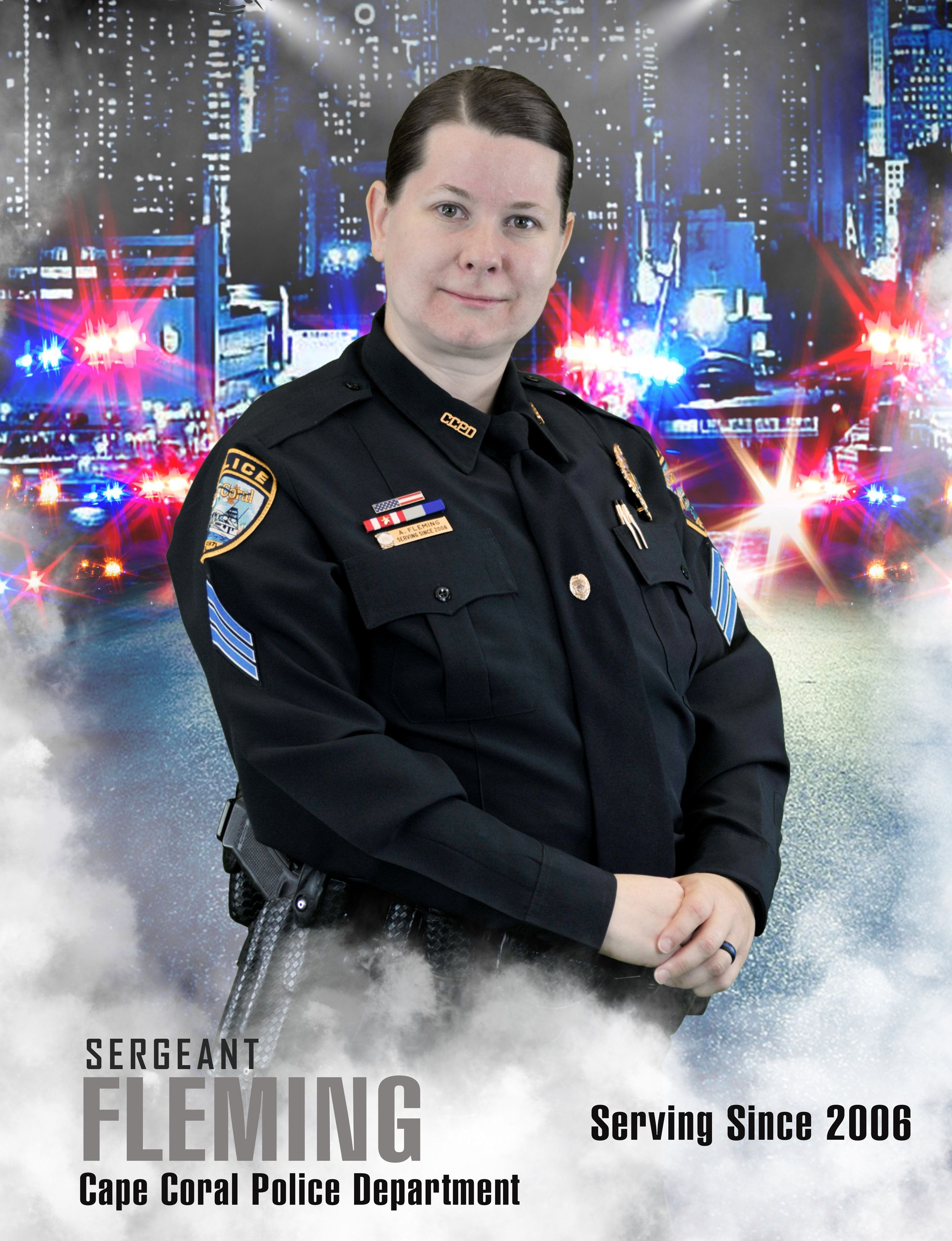 Women S History Month Sergeant Angela Fleming Cape Coral Police Department Women In History Womens History Month Police Department
