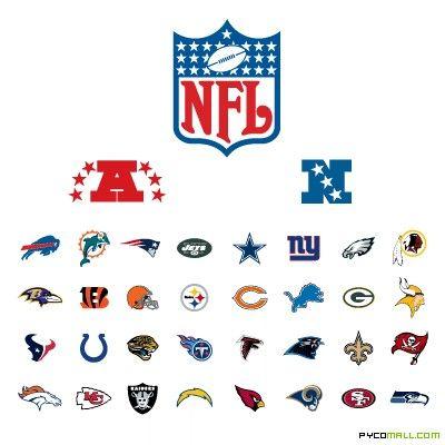 Nfl 32 Team Logos Sports Syndicate Nfl Nfl Teams Logos Nfl Logo