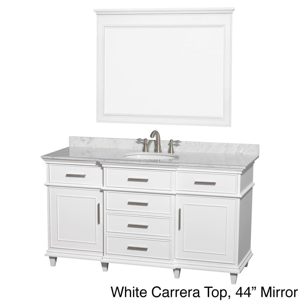 Wyndham Collection BerkeleyWhite Carrera 60-inch Single Bathroom Vanity |  Overstock.com Shopping -