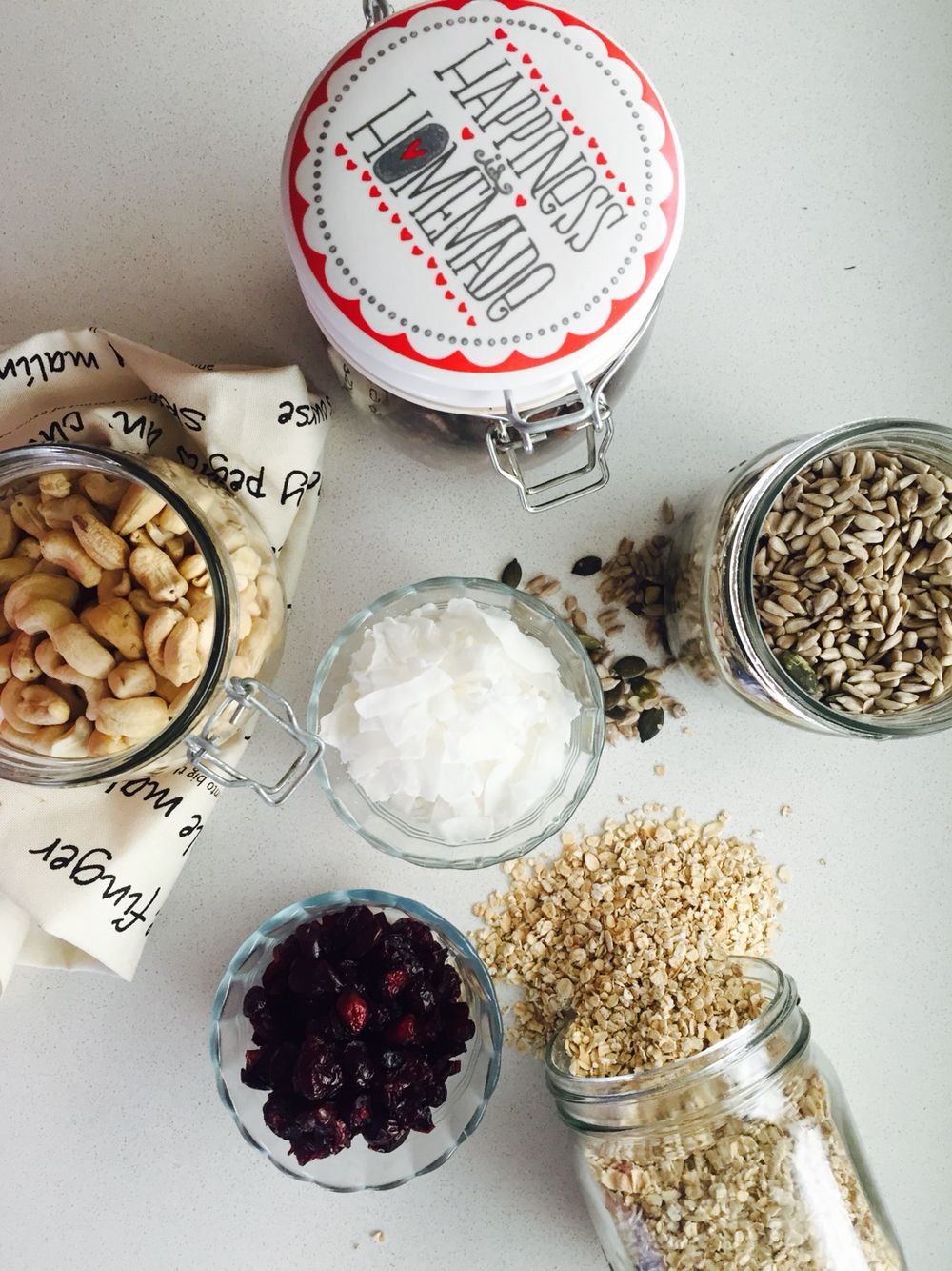 Healthy is homemade! Experimenting in the WITC kitchen! #oats #nuts #seeds #coconut