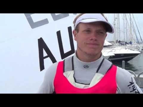 Published on Apr 27, 2013     ISAF Sailing World Cup Hyeres 2013 Winner (Laser) - Tom Burton AUS & Coach , Michael Blackburn AUS Interview.