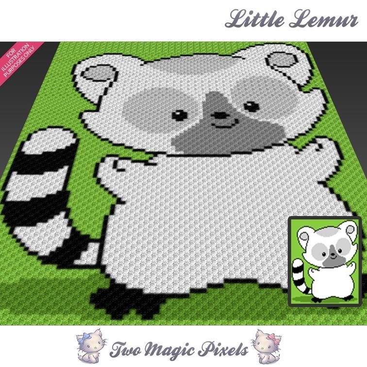 Little Lemur C2C Crochet Graph