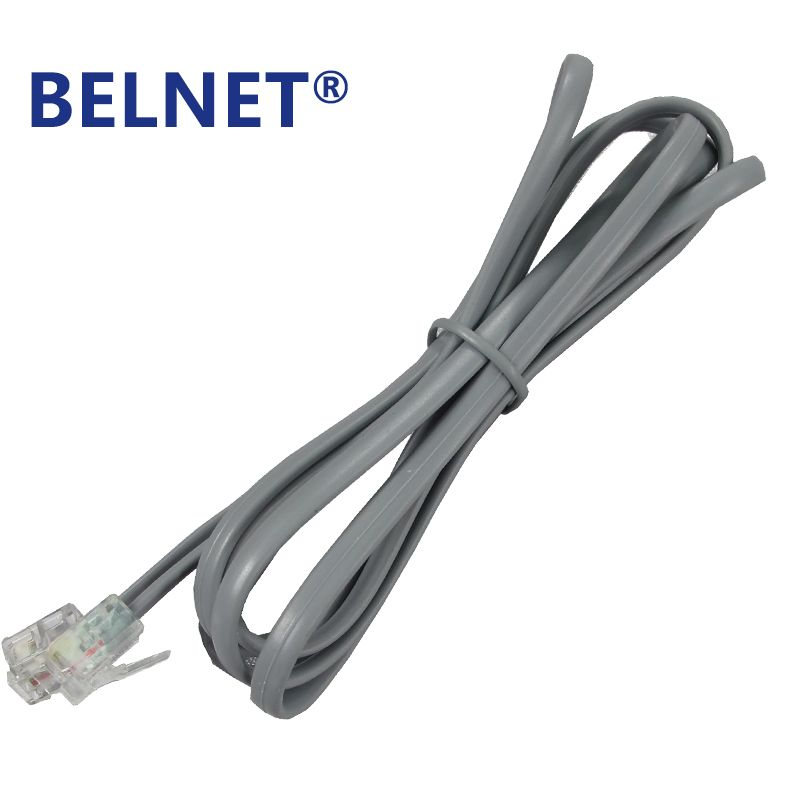 belnet rj11 copper telephone cable wire with 6p2c connectors 6p2c plug rj11  telephone fax modems cable wire line