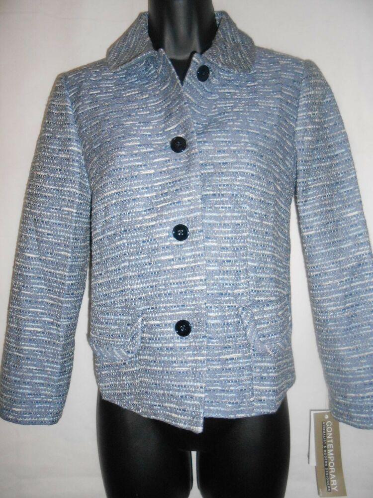 Ad)eBay New MICHAEL KORS new navy print blazer US6, UK10