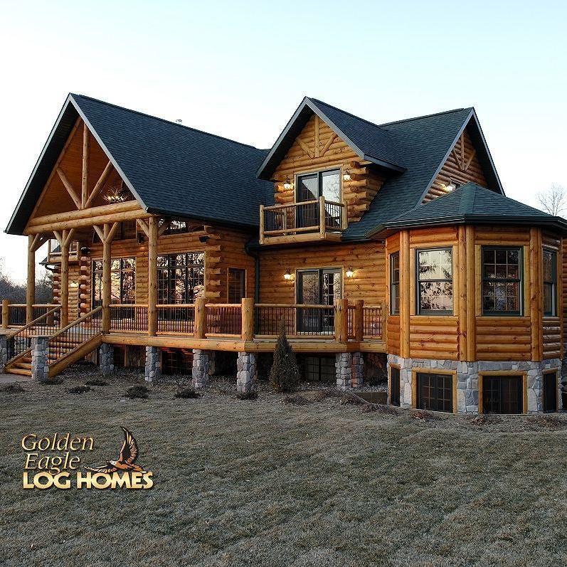 Untitled Log Cabin Exterior Timber House Log Cabin Living