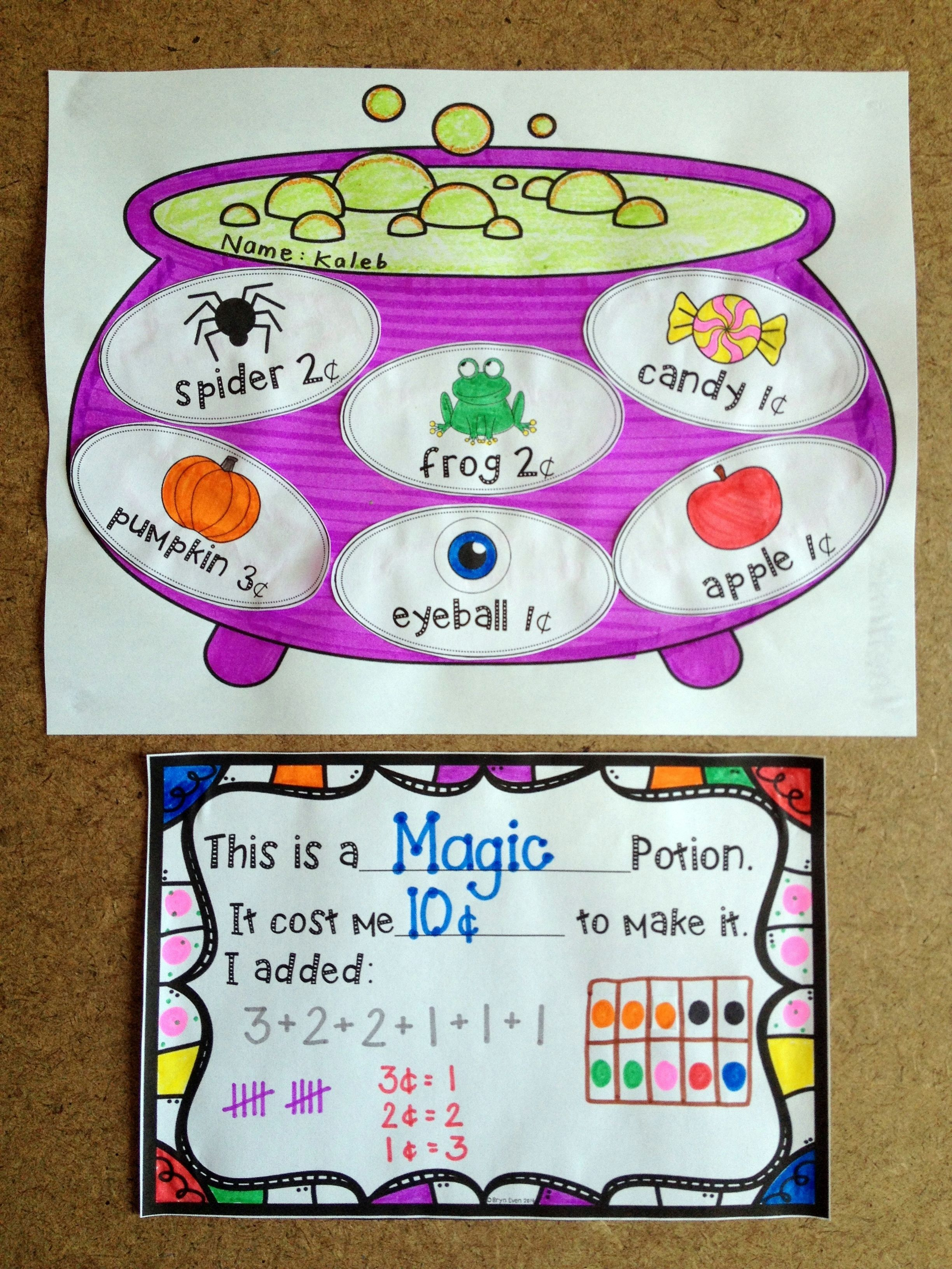 A Room On The Broom Inspired Halloween Math Craftivity
