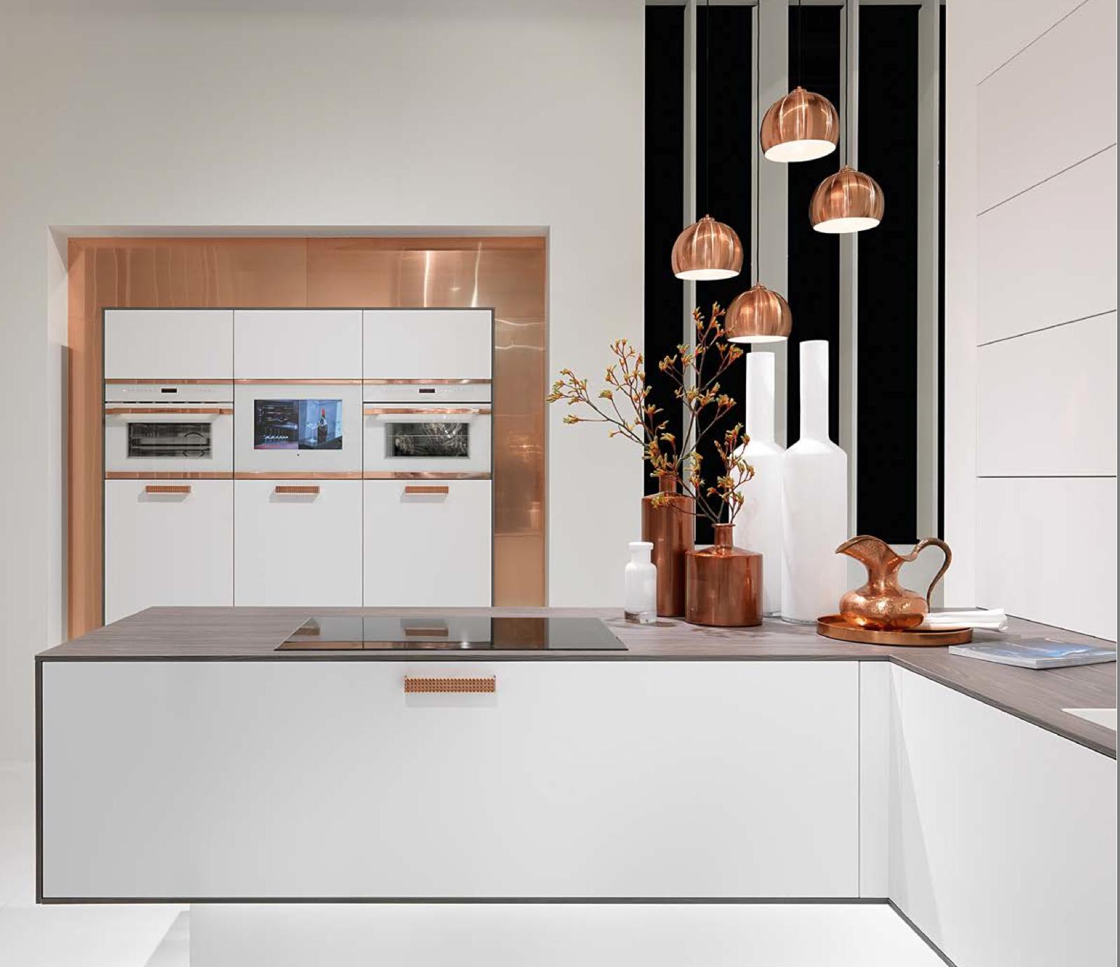 white and copper kitchen | Küche | Pinterest | Copper kitchen and ...