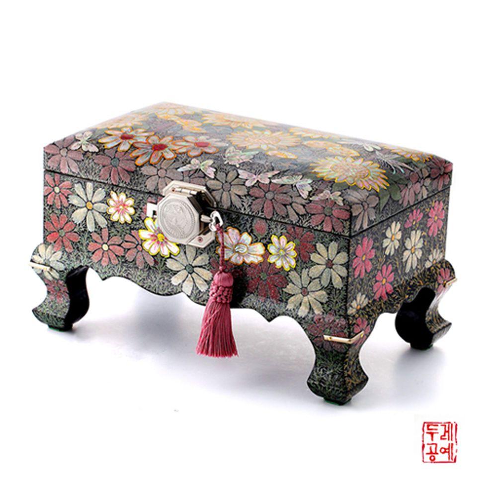 Antique Beautiful Korean motherofpearl jewelry boxes armoire