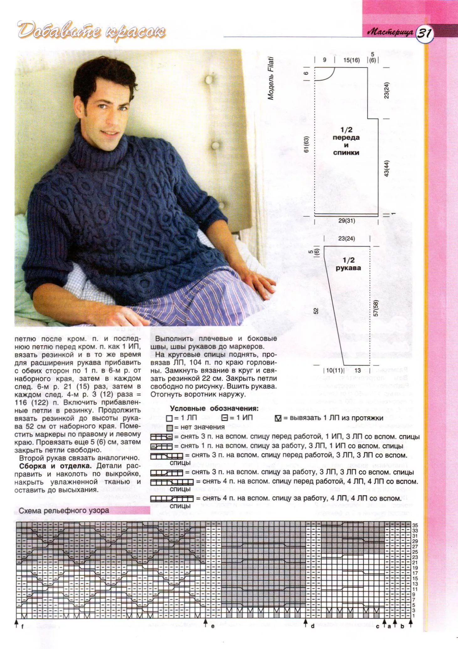 мужской свитер схема картинки шелест