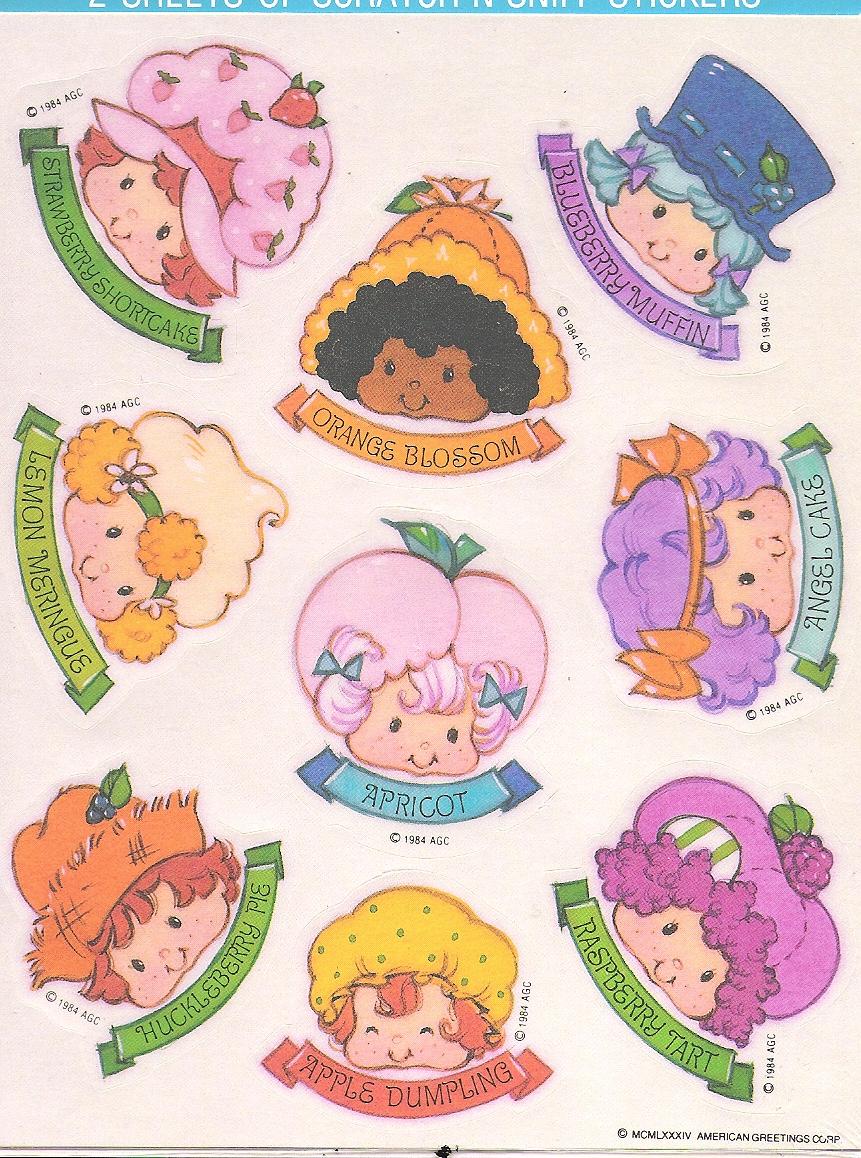 Ssc Heads Stickers Strawberry Shortcake Characters Strawberry Shortcake Doll 80s Cartoons