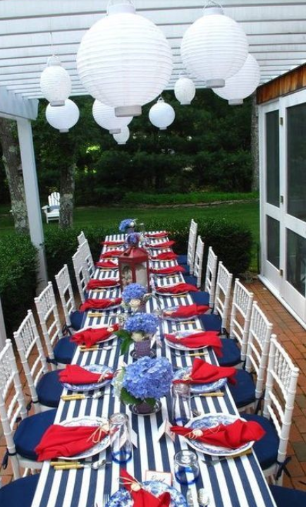 4th of July table setting, 4th of July table scape | 4th of July ...