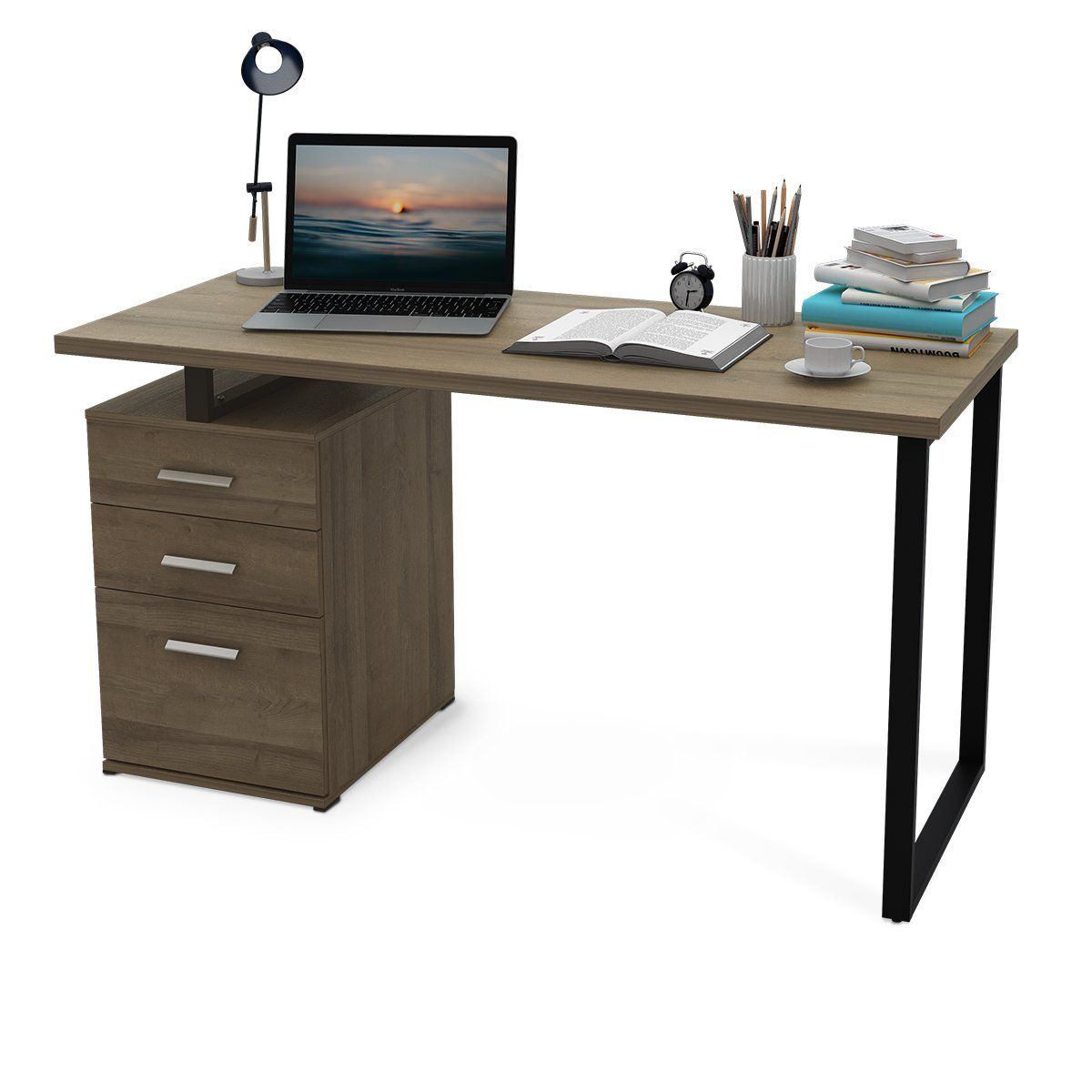 office desk with filing cabinet. DEVAISE Modern Computer Desk, 55.1\ Office Desk With Filing Cabinet