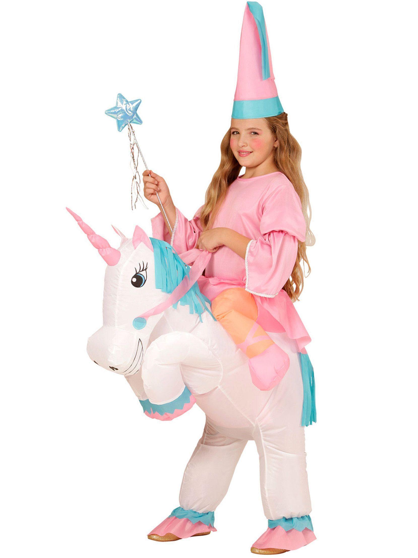 Déguisement princesse à dos de licorne gonflable fille   Ce déguisement de  princesse à dos de licorne gonflable est pour fille. Il se compose de la  licorne ... e60d38922b51