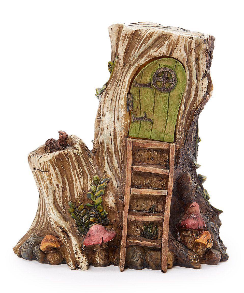 This Hollowed Log Hut Garden Figurine by Wholesale Fairy Gardens is ...