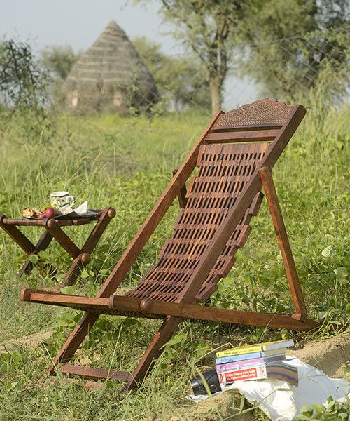 solid wood garden lean back chair home decor furnishings