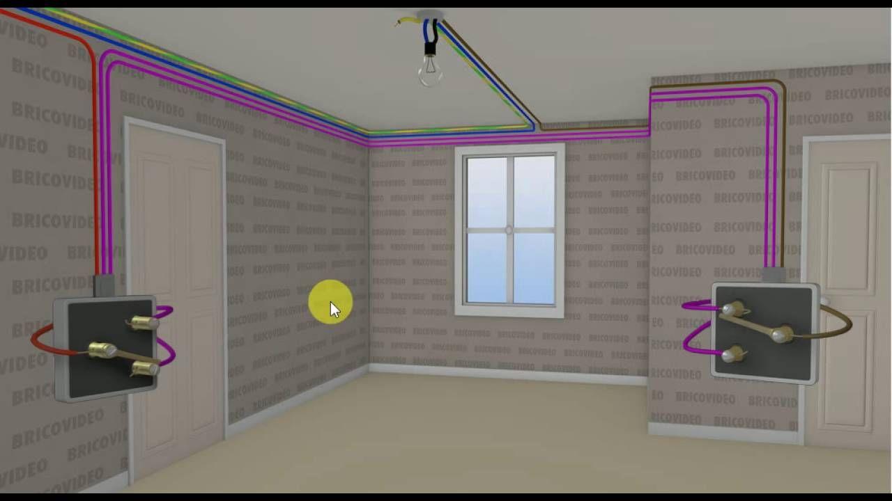 Comment Cabler Un Circuit Va Et Vient Youtube Plan Electrique Maison Plafond Design Electricite Schema