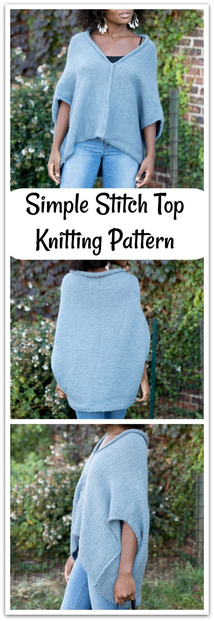 Create this simple stitch top made with New Basic 175 yarn ...